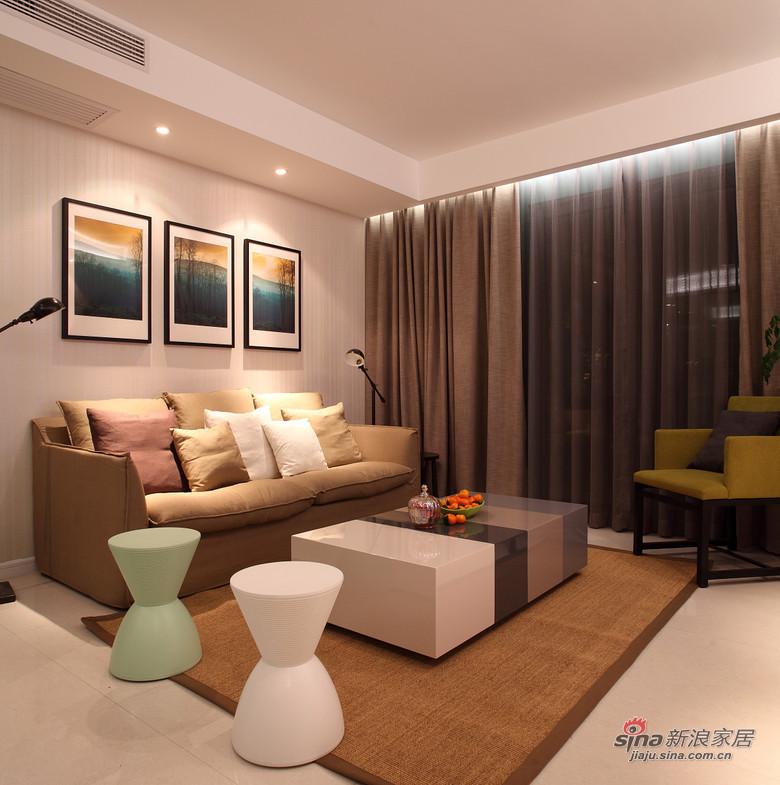 现代 二居 客厅 白领图片来自装修微日记在【高清】小夫妻94平现代时尚前卫居68的分享