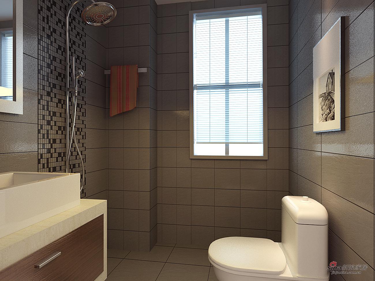 简约 三居 卫生间图片来自用户2556216825在130平简约三居室91的分享