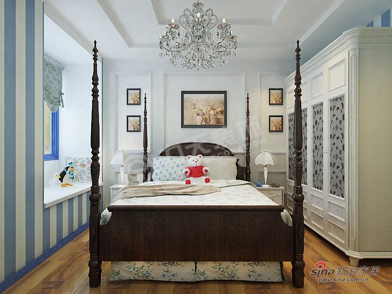 地中海 二居 卧室图片来自阳光力天装饰在两室两厅地中海风格家装设计78的分享