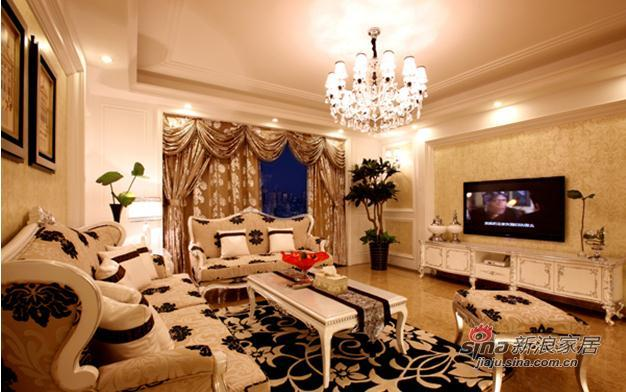 欧式 二居 客厅图片来自用户2746869241在7.8万低调奢华2居欧式爱家29的分享