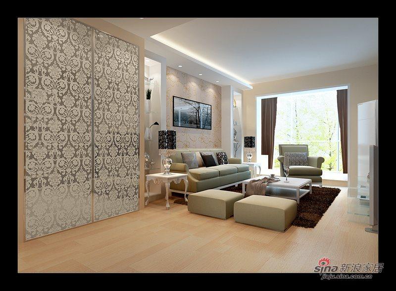 简约 二居 客厅图片来自用户2558728947在百安居简约风格两居34的分享