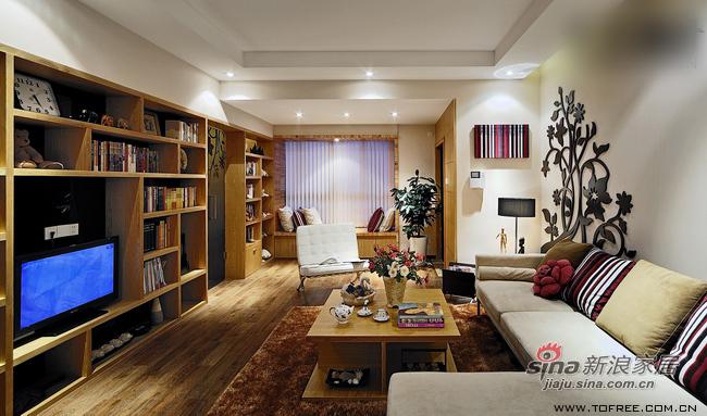 简约 三居 客厅图片来自用户2737950087在5万翻新130平从容收纳爱家76的分享