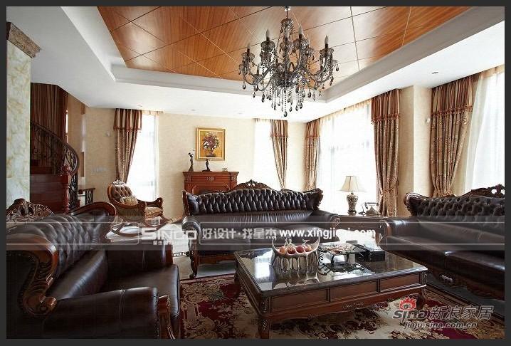 欧式 别墅 客厅图片来自用户2746889121在卸下传统欧式 耳目一新混搭风76的分享