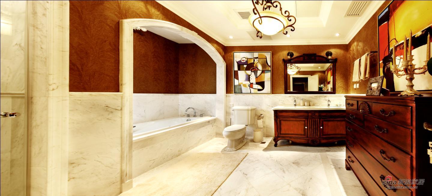 欧式 别墅 卫生间图片来自用户2745758987在【多图】龙湖400平米托斯卡纳风情70的分享