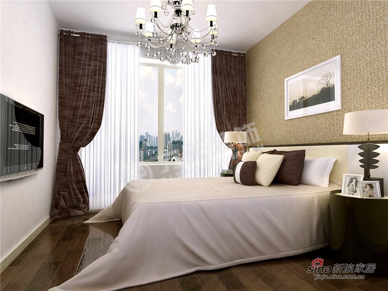 简约 三居 卧室图片来自阳光力天装饰在枫丹天城-三室两厅一卫-现代简约52的分享