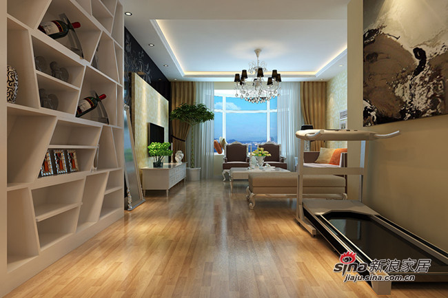 简约 二居 客厅图片来自用户2738829145在5万打造85㎡简约温馨2居室80的分享