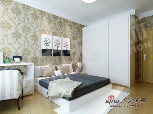 简约 三居 卧室图片来自阳光力天装饰在温馨简约家居88的分享