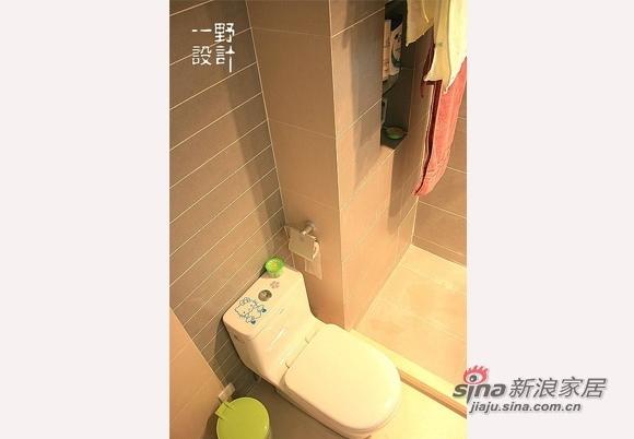 简约 三居 卫生间图片来自用户2738829145在10万全包装92平橙彩小屋67的分享