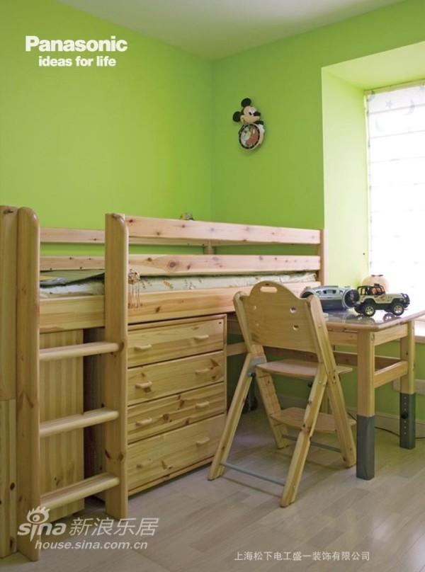 苹果绿的儿童房非常适合小孩