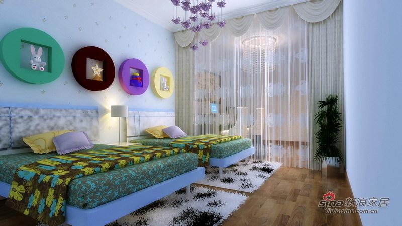 欧式 四居 卧室图片来自用户2746869241在10万精装180㎡欧式四居室81的分享