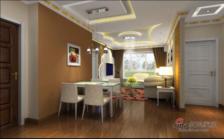 欧式 复式 餐厅图片来自用户2745758987在润枫锦尚三口之家的欧式之风22的分享