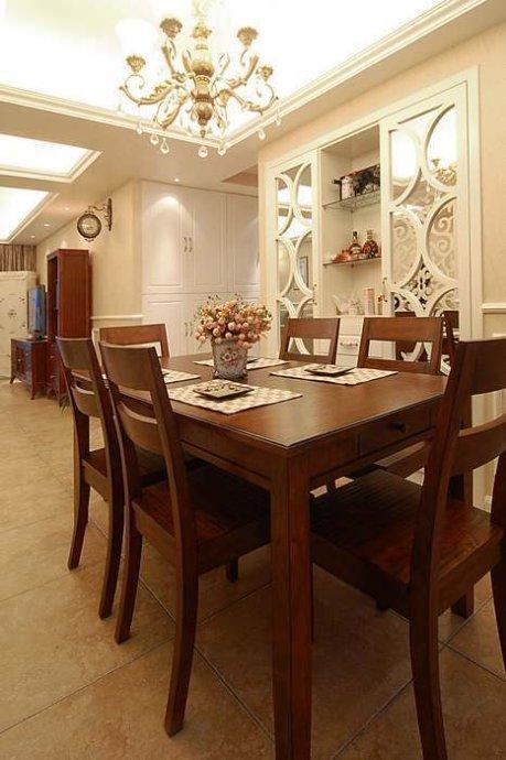简约 三居 餐厅图片来自用户2738845145在15万装146㎡简欧混搭婚房82的分享