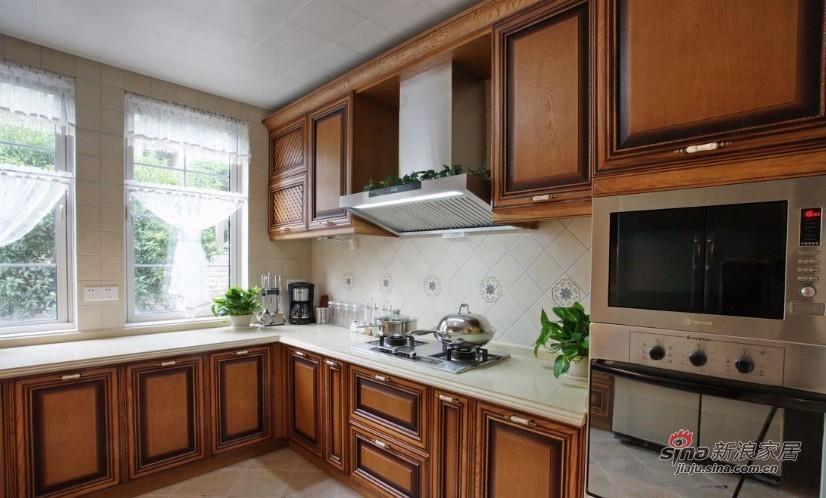 美式 复式 厨房图片来自家装大管家在【高清】135平大气美式雅致之家86的分享