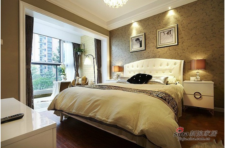 欧式 三居 卧室图片来自用户2745758987在东方太阳城140平欧式高贵典雅3居室20的分享