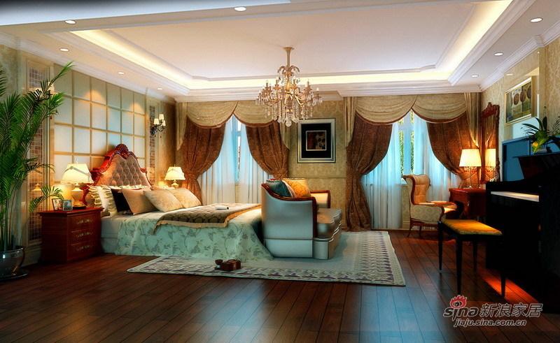 欧式 四居 卧室图片来自用户2746869241在国风上观228平高贵不失典雅简欧四居花18万56的分享