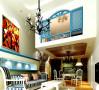 64平米北京华贸城地中海风格Loft二居室15