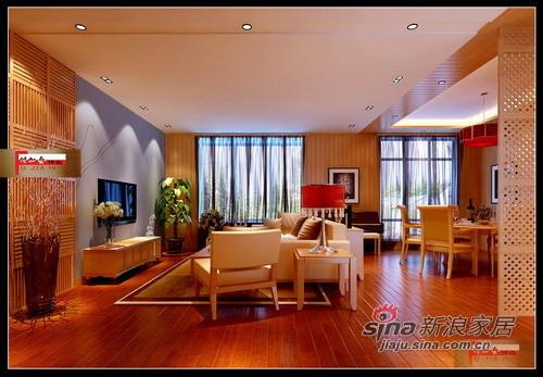 暖色新中式客厅