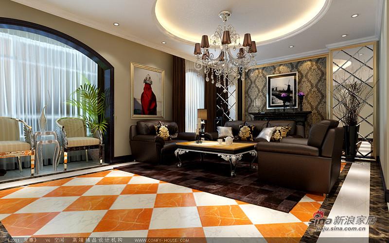 欧式 复式 客厅图片来自用户2746889121在258平欧式混搭高贵大气复式别墅16的分享