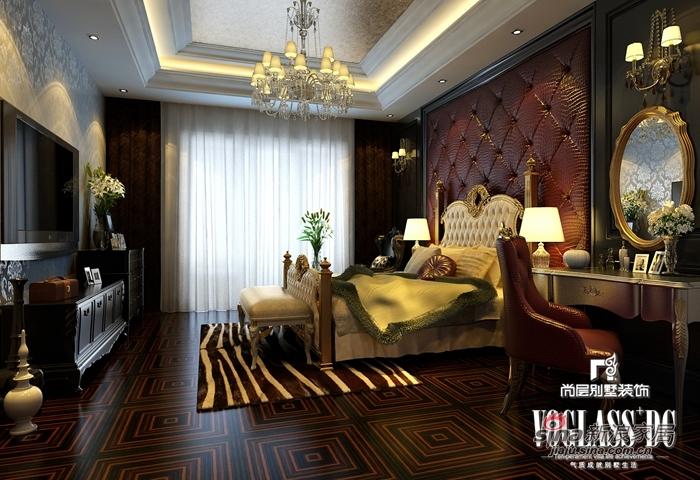 混搭 别墅 卧室图片来自用户1907689327在568平新奢华保利垄上14的分享