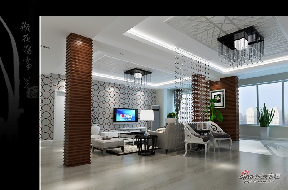 简约 复式 客厅图片来自用户2557010253在22万复式220平中式田园风14的分享