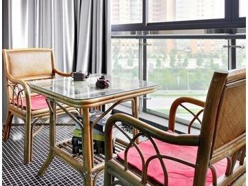 10万装修90平2室2厅现代北欧式公寓78