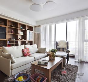 现代 二居 客厅 文艺青年图片来自装修微日记在【高清】10万装78平现代简洁素雅家15的分享