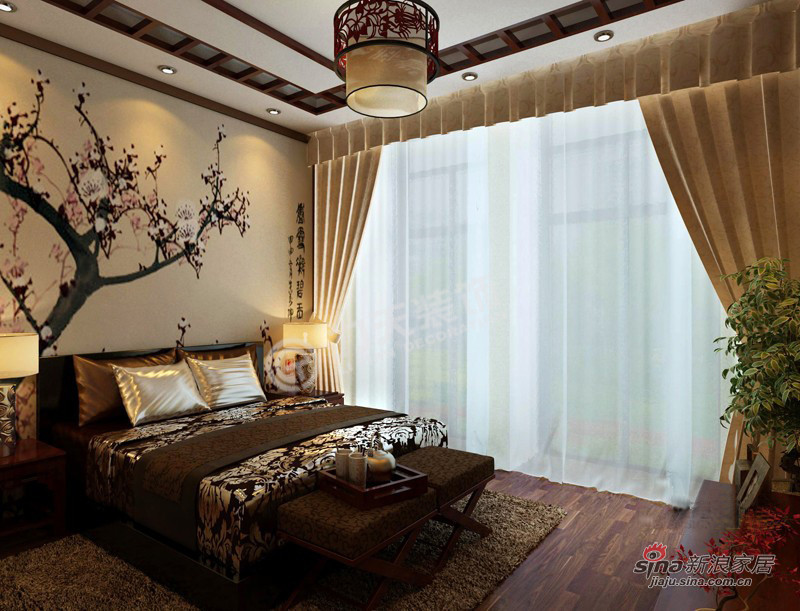 中式 三居 卧室图片来自阳光力天装饰在枫丹天城- 三室两厅一厨两卫-中式93的分享