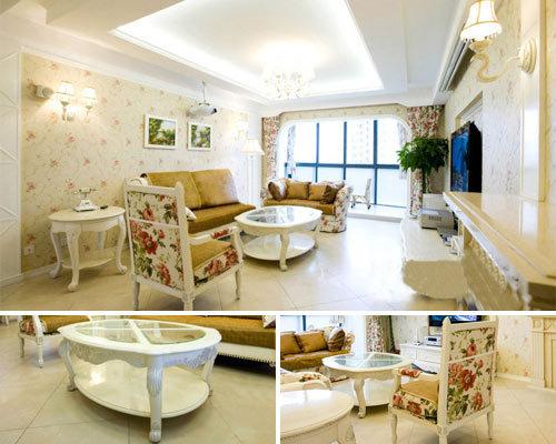 田园 二居 客厅图片来自用户2737946093在温馨时尚田园130平设计实景86的分享