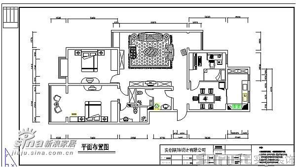 一套大三室两厅户型