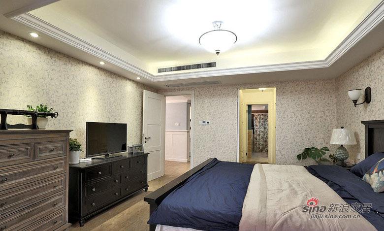 地中海 复式 卧室图片来自用户2756243717在【高清】中年夫妻160平地中海混搭复式67的分享