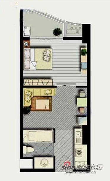 欧式 一居 客厅图片来自用户2772873991在2.5w欧式50平靓居15的分享