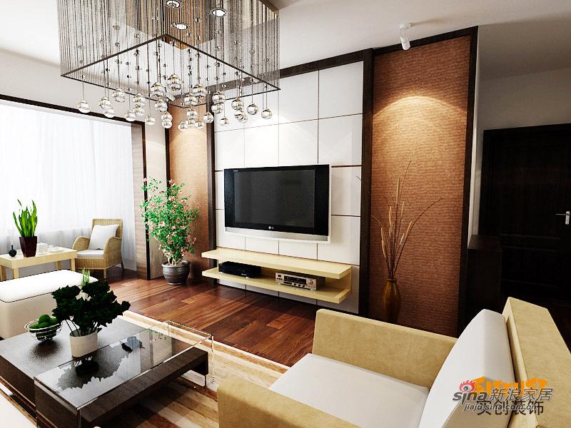 """简约 二居 客厅图片来自用户2557010253在4w5打造89平""""瞰海""""时尚家57的分享"""