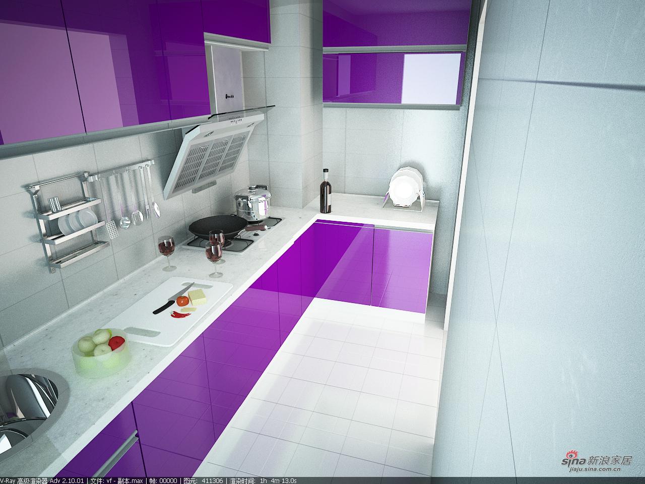 其他 三居 厨房图片来自用户2558746857在紫色典雅家装三居室89的分享
