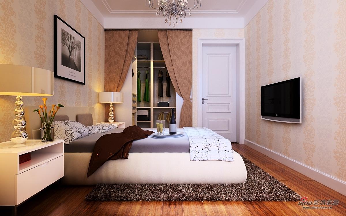 简约 三居 卧室图片来自用户2737759857在133平三居室完工图68的分享