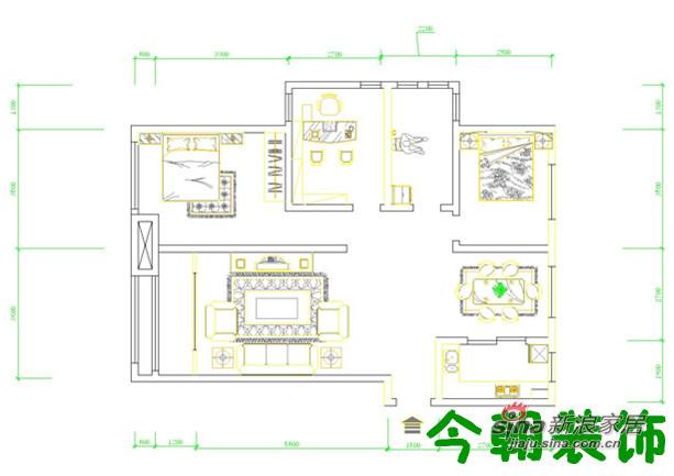简约 三居 户型图图片来自用户2739153147在118平清新淡雅实用三居25的分享