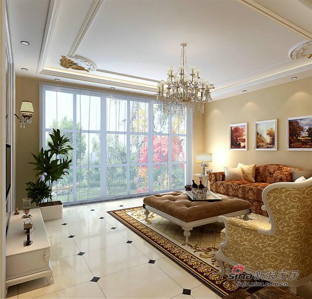 混搭 别墅 客厅图片来自用户1907655435在【精】160平别墅中西混搭风格13.6万20的分享