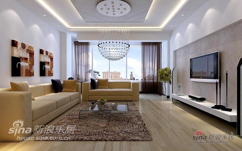 简约 三居 客厅图片来自用户2737759857在色彩明快、活泼家园86的分享