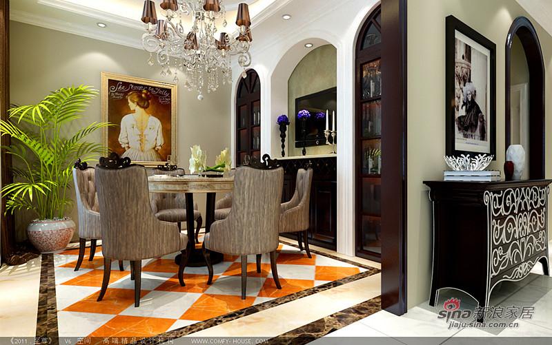 欧式 复式 餐厅图片来自用户2746889121在258平欧式混搭高贵大气复式别墅16的分享