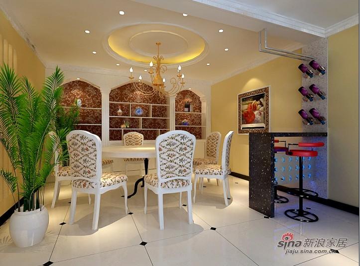 混搭 四居 餐厅图片来自用户1907689327在180平甜美欧式风情大宅28的分享