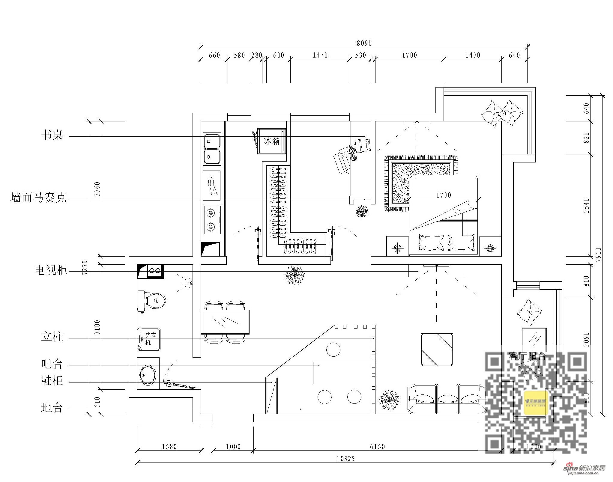 简约 二居 其他图片来自用户2738813661在现代简约两居室浪漫满巢56的分享