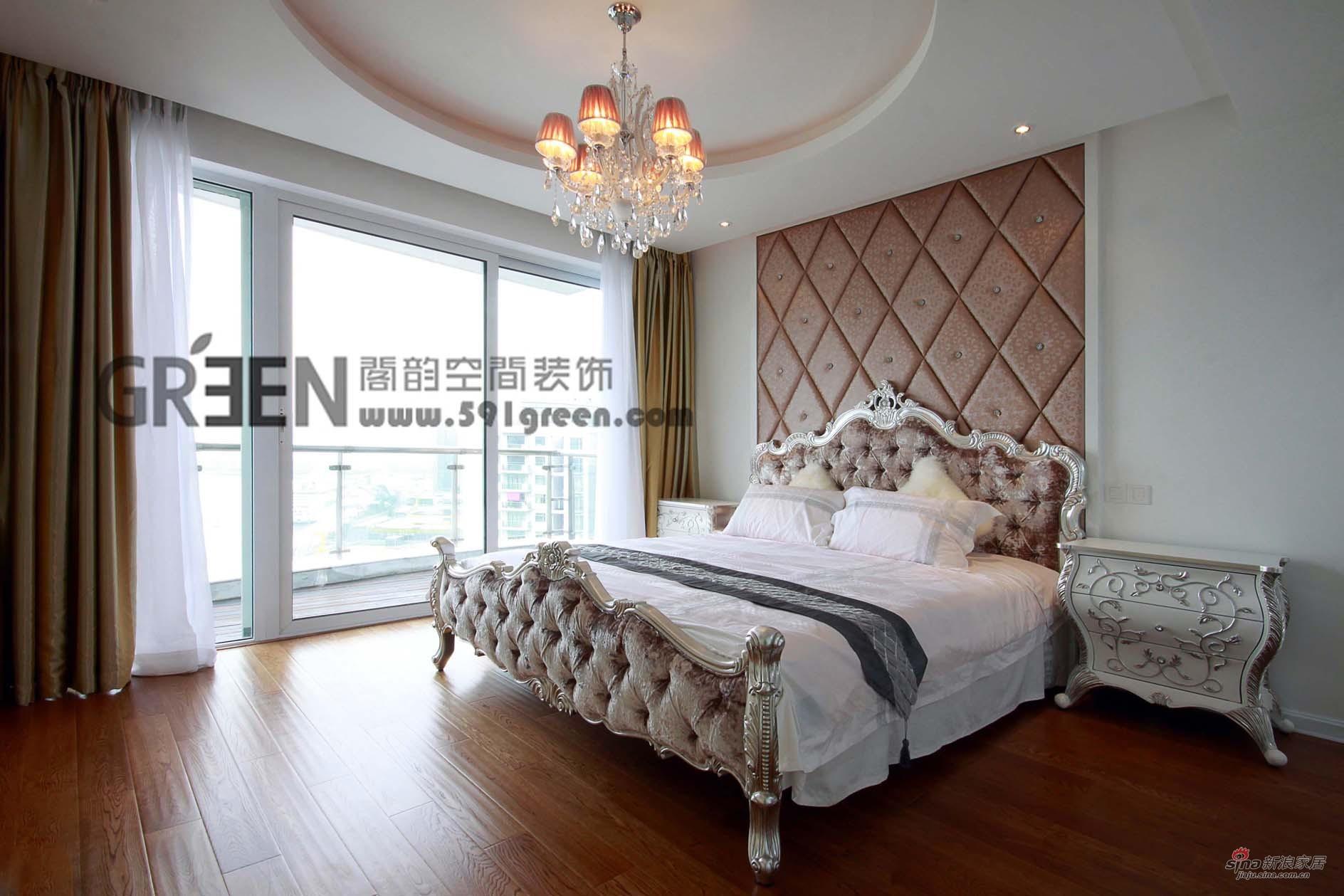 欧式 三居 卧室图片来自阁韵空间装饰在新外滩花苑29的分享
