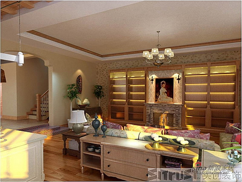 欧式 别墅 书房图片来自用户2772856065在威尼斯花园26的分享