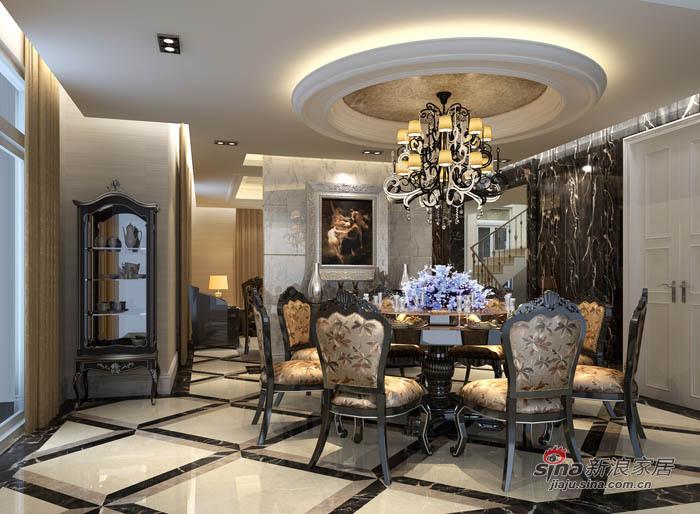 新古典 别墅 餐厅图片来自用户1907664341在280平高贵大气典雅舒适别墅86的分享