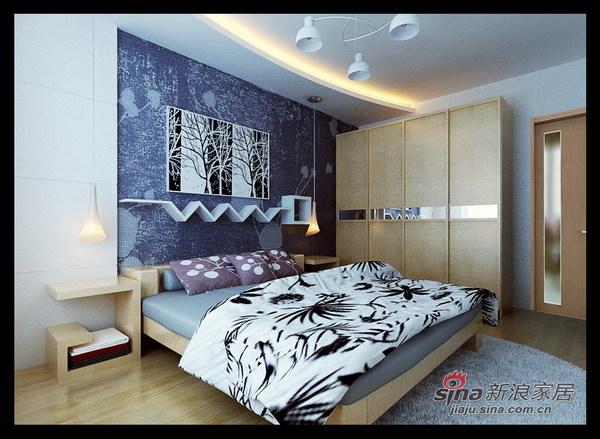 简约 二居 卧室图片来自用户2739378857在93平米简而华丽、色调协调大气家园82的分享
