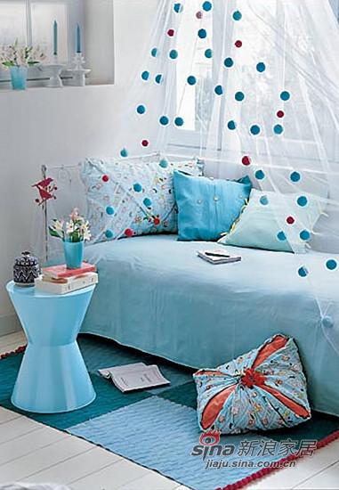 在卧室放飞梦想假期,深兰和浅兰相拼接的地
