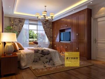 清包5万打造美式田园风格180平米四居室78