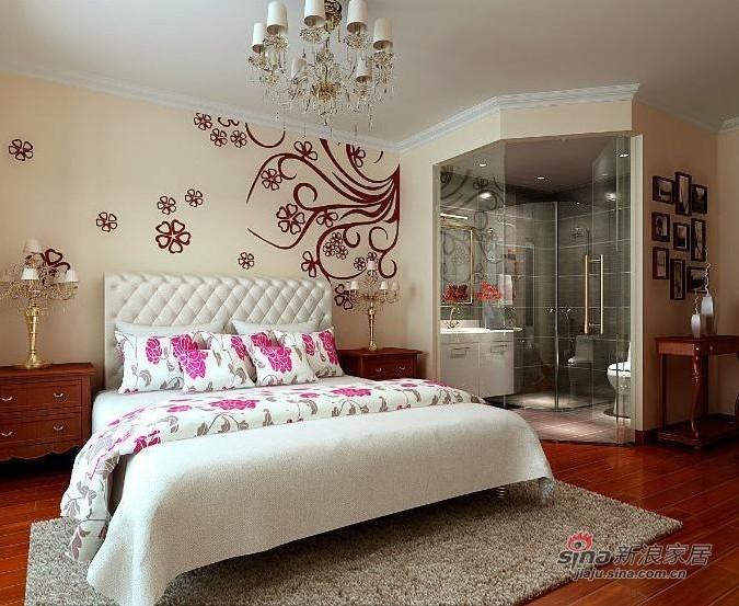 欧式 二居 卧室图片来自用户2757317061在90平二居室简欧风格效果图10的分享