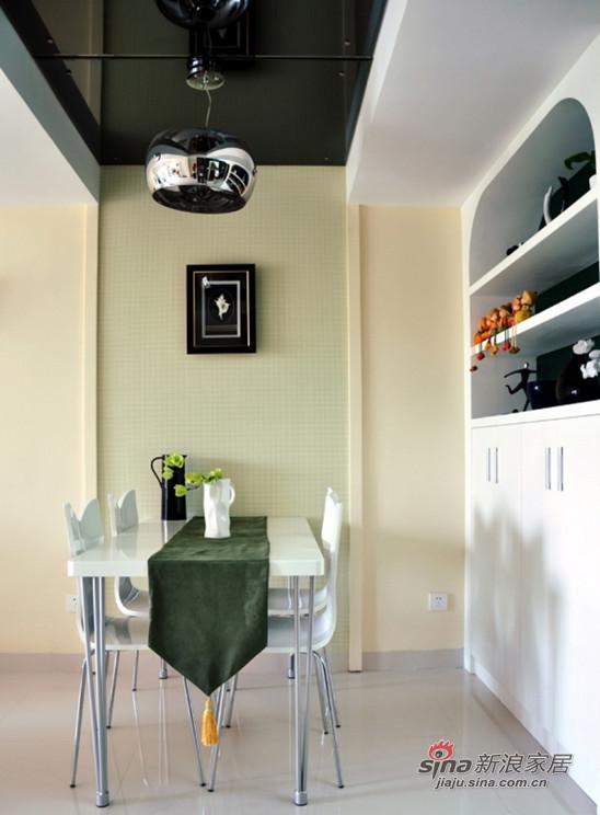 简约 复式 餐厅图片来自用户2556216825在单身贵族的简约清爽小复式50的分享