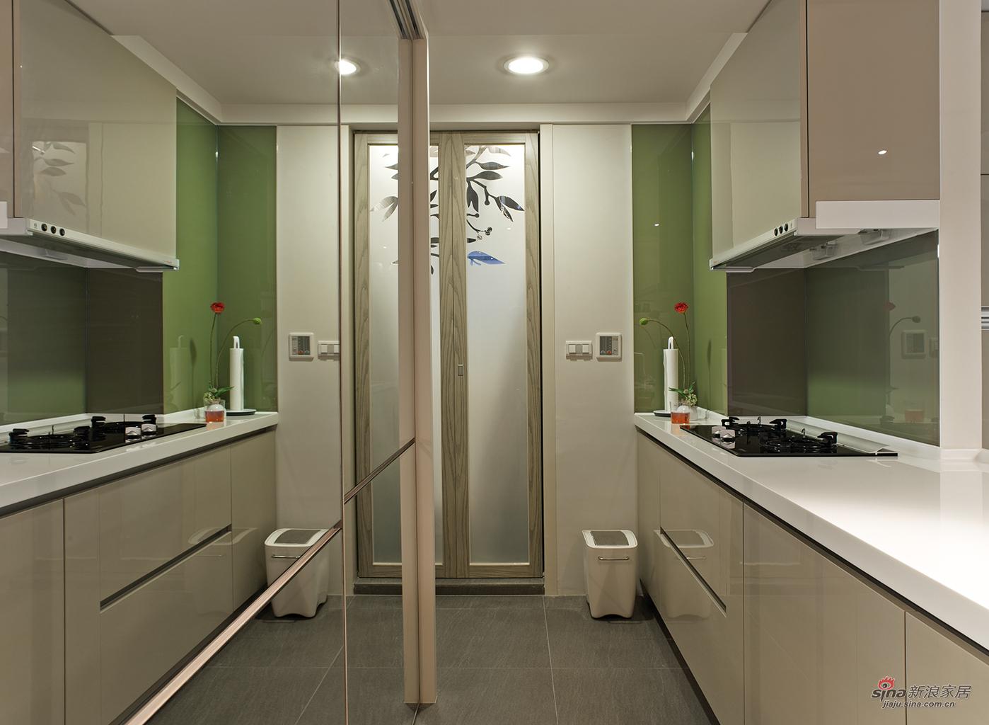 简约 四居 厨房图片来自用户2738820801在【高清】简约风格,文艺气息十足的大四居58的分享