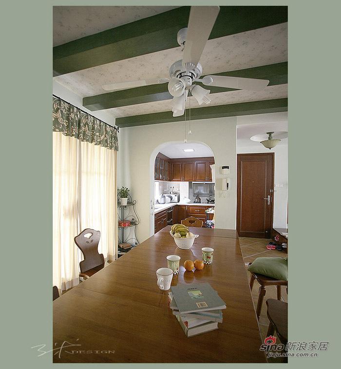 简约 三居 餐厅图片来自用户2738813661在准妈妈豪掷16万装120平清雅田园3居86的分享
